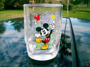 WALT DISNEY WORLD MCDONALDS 2000 GLASS MICKEY MOUSE