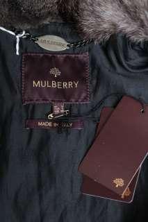 Black Quilted AVIATOR Leather Rabbit Fur Collar JACKET COAT 4 NEW UK 8