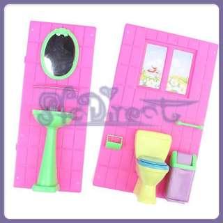 dollhouse furniture bathroom set toilet sink for barbie