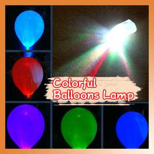 LED Colorful Balloon Light Lamp For Birthday Christmas Wedding Party