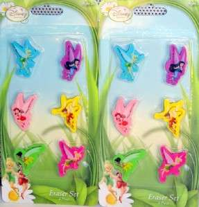 12 NEW Disney Fairies / TinkerBell Erasers / Party Favors