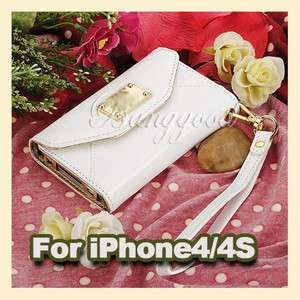 Credit ID Card Flip Leather Case Cover Pouch Purse for iPhone 4 4S