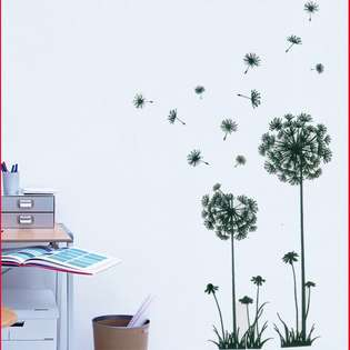 Wall Decal Dandelion Flower Plant Tree Large Removable Wall Decor