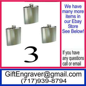 FLASKS Personalized Engraved Groomsmen Gifts 0A1