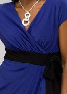 NWT Jones New York Faux Wrap Jersey Cocktail Career Dress 22W