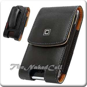 for T MOBILE MYTOUCH Q MYTOUCHQ BLACK VERTICAL LEATHER CASE POUCH