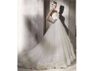 Mermaid Sweetheart Organza Flowers Wedding Dress (GWBN1700)
