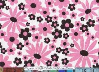 Michael Miller Fabric ~ Pink Kaylee Black Flower 4309