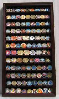 Large, Casino Chip and Coin Display Case Cabinet Holder