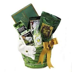 Golf Themed Gift Basket   Great Fathers Day Gift Idea