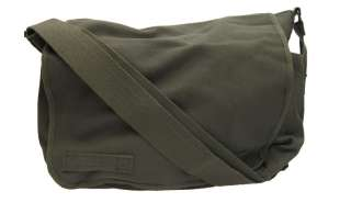 Rothco Classic Heavyweight Canvas Messenger Bag Olive Army Surplus