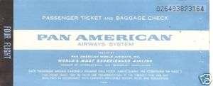 Airline Ticket   Pan Am   4 Flight   1967 (T74)