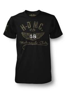 Harley Davidson Mens Black Label Collection Black Winged 48