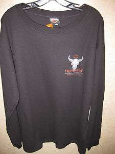 Yellowstone Harley Davidson Custom Mens Long Sleeve Black Thermal