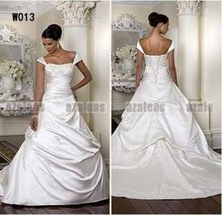 2012 Newest Design Wedding Dress White Square Custom Size New Cap