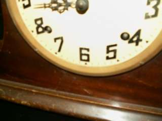Antique E. INGRAHAM & CO ~BRISTOL,CONN~INGRAHAM MANTLE 8 DAY CLOCK