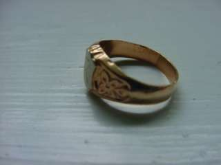 Antique Victorian Solid 9k Gold Baby Initial Ring w/ R