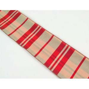 Candy Crush Red/Gold Wired Christmas Ribbon 4 x 30 Yards