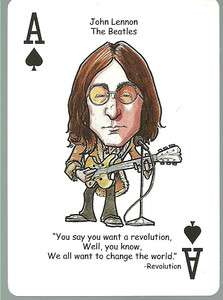 JOHN LENNON   Beatles Oddball ROCK & ROLL Playing Card