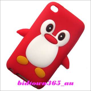 Cute Penguin Soft Gel Silicone Back Case Cover for Ipod touch 4 4G 4th