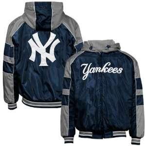 New York Yankees Navy Blue Reversible Full Zip Hoody