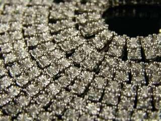MENS 2 ROW FANOOK WHITE GOLD FINISH DIAMOND CHAIN 5.0CT