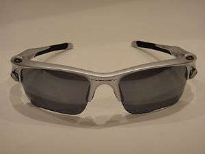 OAKLEY FAST JACKET XL SUNGLASSES OO9156 08 SILVER W BLACK IRIDIUM