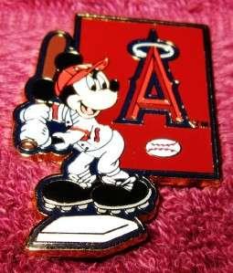 Trading Pin  MICKEY MOUSE   Major League Baseball Player   LA Angels