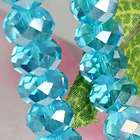 10x7mm CRYSTAL GLASS FACETED ABACUS LOOSE BEADS NEW
