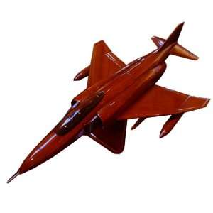 Wooden Display Model Air Force F 4 Phantom Fighter Jet with Stand