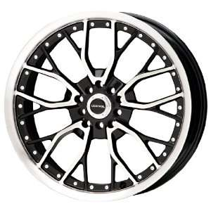 Liquid Metal Wire Series Black Wheel with Machined Face