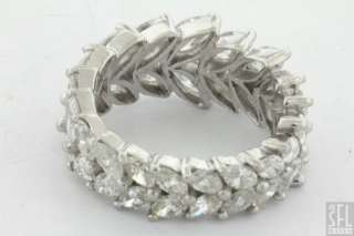 VINTAGE PLATINUM 4.50CT VS MARQUISE CUT DIAMOND ETERNITY BAND RING