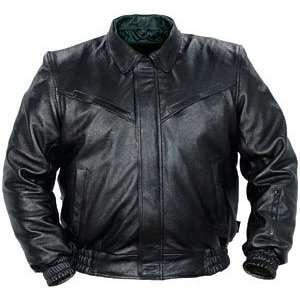 Tourmaster Classic Mens Leather Motorcycle Jacket Black
