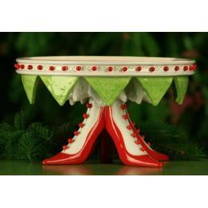 High Heel Shoe Christmas Cake Plate