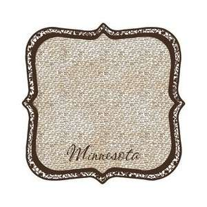 Minnesota   12 x 12 Die Cut Paper   State Shape Arts, Crafts & Sewing