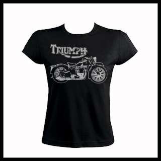 T232 Triumph Motorcycles Choppers Woman Fit T Shirt NEW