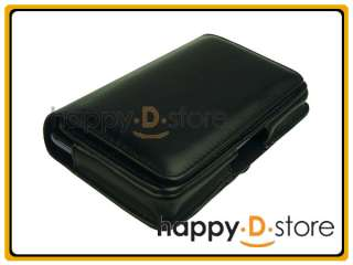 Horizontal Black Leather Case with Belt Clip for Samsung Galaxy Note