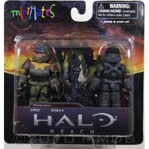 Halo Minimates Series 1 Mini Figure 2Pack Jorge Noble 6 Toys & Games