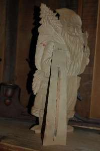 Antique Santa Claus Pressed Board Store Display Germany 19 Tall  Vtg