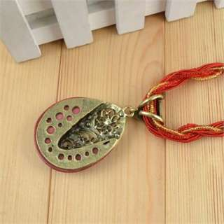 Cocktail Multi Chain Resin Bead Drop Pendant Crystal Necklace 26 N010