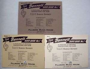 The Bennett Band Book No.1Drums,Baritone, Clarinets