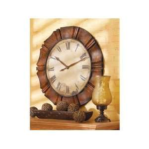 Crimped Frame Wall Clock With Roman Numerals Iron Ld