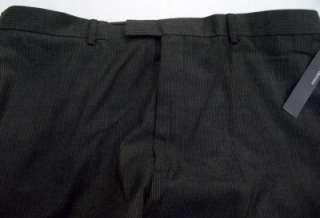 NEW Mens Perry Ellis Portfolio Charcoal Grey Pin Stripe Dress Pants