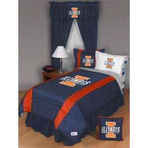 Illinois Fighting Illini Bedding Twin Set Sports