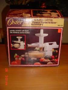 NEW Oster Power Puree N Ricer Accessory Model 960 Kitchen Center