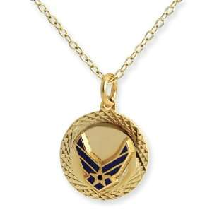 Air Force 22k Gold plated 18 Necklace