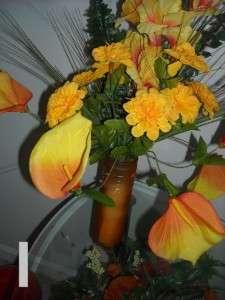 NEW 28 ARTIFICIAL HAND CRAFTED SILK FLOWER ARRANGEMENT