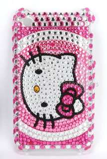 2x hello kitty rhinestone bling case pouch shell cover For iphone 3G