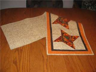 Handmade table Runner quilted Thanksgiving fall autumn