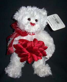 Red Rose Petals Sm Plush Stuffed Animal Teddy Bear Gund 8